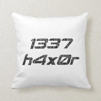 Leet Haxor 1337 Computer Hacker Pillow