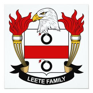 Leete Family Crest Invitation
