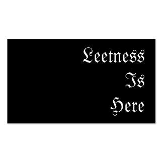 Leetness está aquí tarjetas de visita