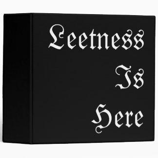 Leetness Is Here. 3 Ring Binder