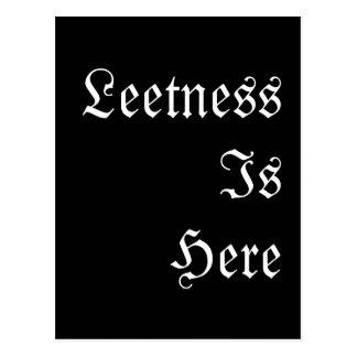 Leetness Is Here. Postcard