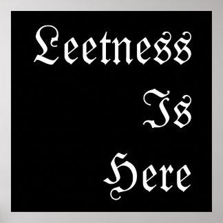 Leetness Is Here. Print