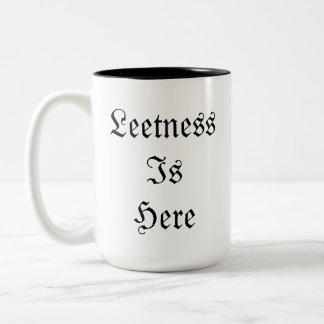 Leetness Is Here. Two-Tone Coffee Mug