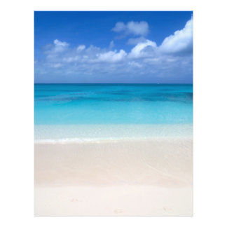 Leeward Beach   Turks and Caicos Photo Personalized Flyer