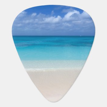 Leeward Beach | Turks And Caicos Photo Guitar Pick by ElkeClarkeImages at Zazzle