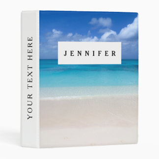 Leeward Beach   Turks and Caicos Photo Mini Binder