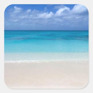 Leeward Beach   Turks and Caicos Photo Square Sticker