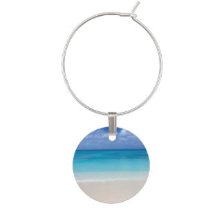 Leeward Beach   Turks and Caicos Photo Wine Glass Charm