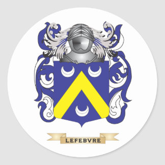 Lefebvre Coat of Arms (Family Crest) Round Stickers