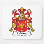 Lefebvre Family Crest Mouse Mats