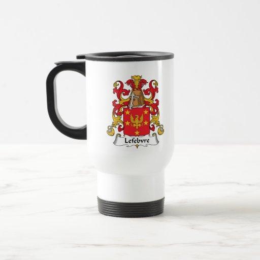 Lefebvre Family Crest Mugs