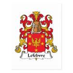 Lefebvre Family Crest Post Card