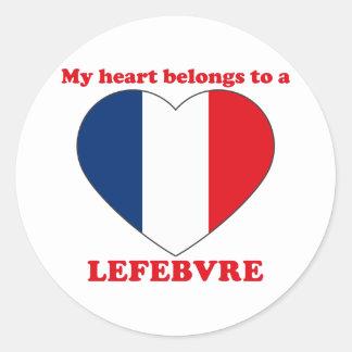 Lefebvre Round Sticker