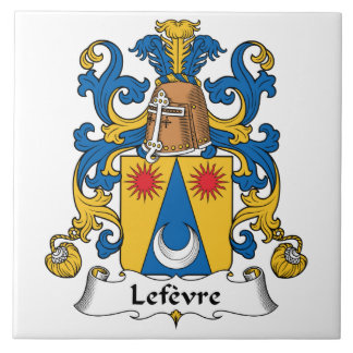 Lefevre  Family Crest Tile