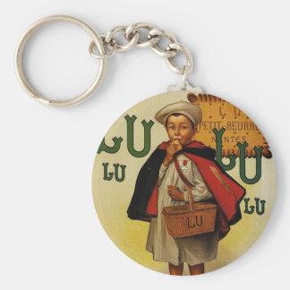 Lefevre Lu Lu Biscuit Boy in Cape Basic Round Button Keychain
