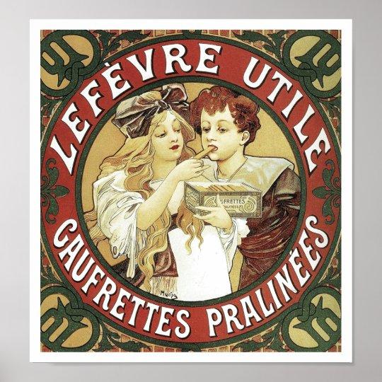 Lefevre Utile Vanilla Wafers by Alphonse Mucha Poster