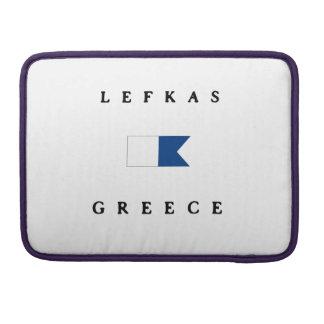 Lefkas Greece Alpha Dive Flag MacBook Pro Sleeve