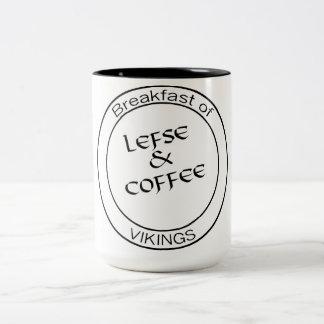 Lefse y café - desayuno de la taza de Vikingos