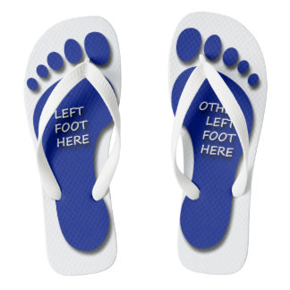 Left and Other Left Foot Flip Flops