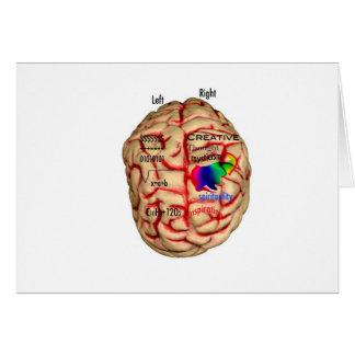 Left and Risht Side of Brain Card