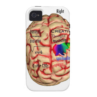 Left and Risht Side of Brain iPhone 4 Cases