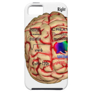 Left and Risht Side of Brain iPhone 5 Cases