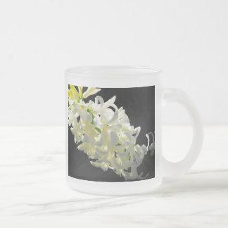 Left Angle up Hyacinth Frosted Glass Coffee Mug