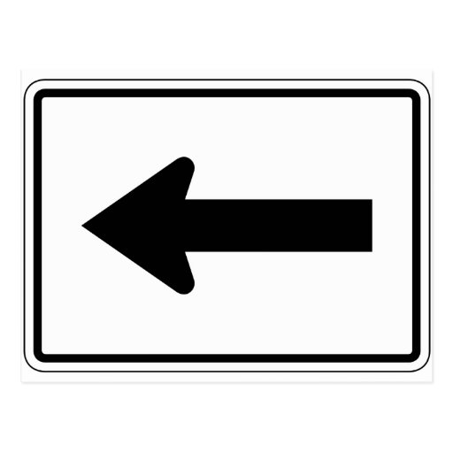 Left Arrow Street Sign Post Cards