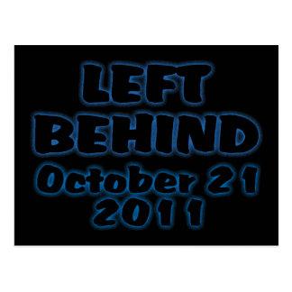 Left Behind October 21 Postcard