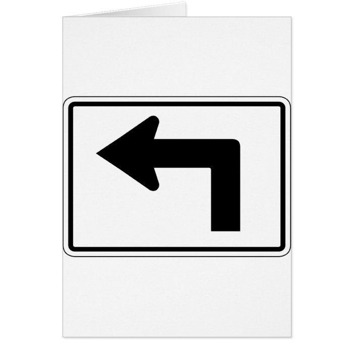Left Bent Arrow Street Sign Card