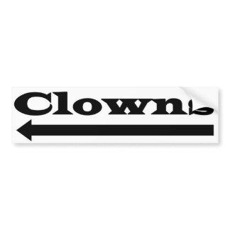 Left Clowns Bumper Sticker
