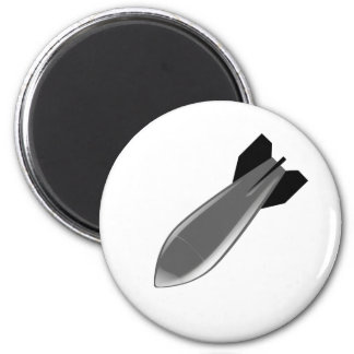 left diving pointed bomb 2 inch round magnet