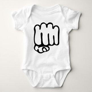 left fist icon baby bodysuit
