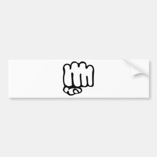 left fist icon bumper sticker