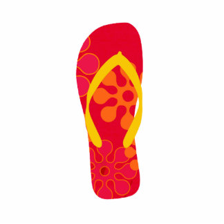 Left Foot Red Beach Flip Flop Christmas Tree Cutout