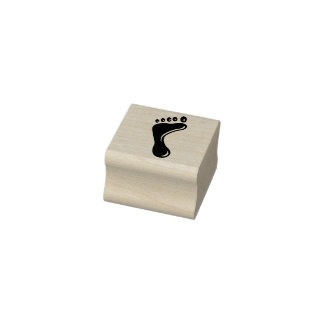 Left foot rubber stamp