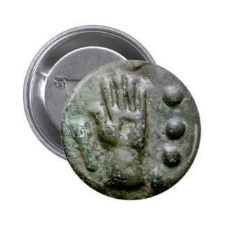 Left Hand Aes Grave Quadrans Buttons