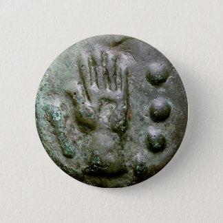 Left Hand Aes Grave Quadrans Pinback Button