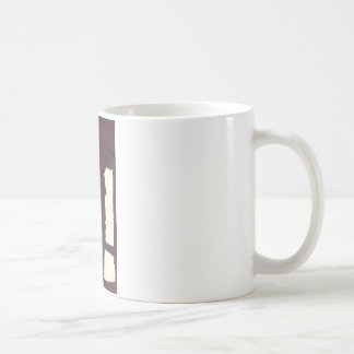 left hand side heavy, match stick coffee mug