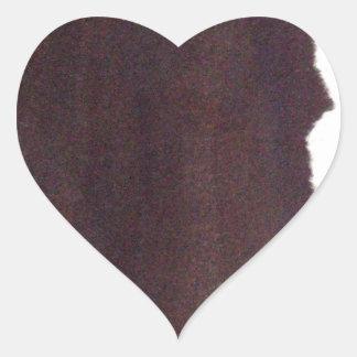left hand side heavy, match stick heart sticker