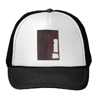left hand side heavy, match stick trucker hat