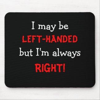 Left-handed Mousepad mousepad