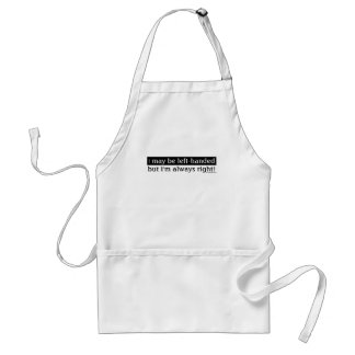 Left-handed people adult apron