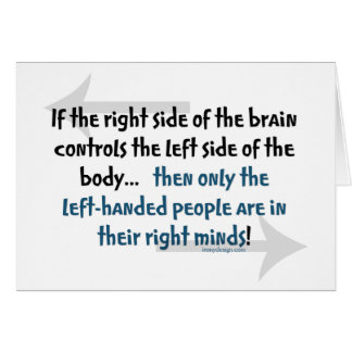 Left-handed people card