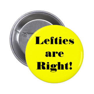 Left-handed people have rights too! button