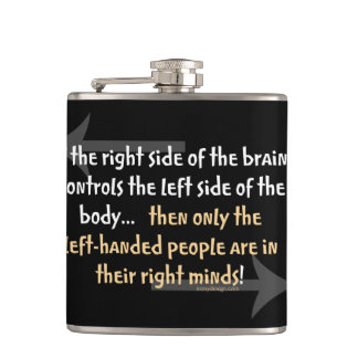 Left-handed people hip flask