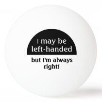 Left-handed people Humor Ping-Pong Ball