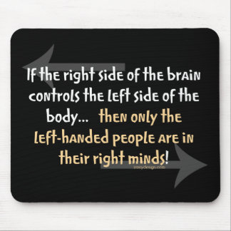 Left-handed people mouse pad