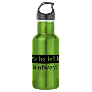 Left-handed people stainless steel water bottle