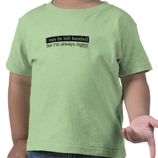 Left-handed people tee shirts